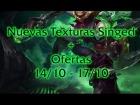 Nuevas texturas Singed + ofertas 14/10 - 17/10