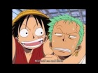 V�deo: One Piece - Luffy sends Zoro flying and crashing