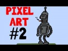 V�deo Minecraft: --[[ BENDER (FUTURAMA) PIXEL ART - MINECRAFT ]]--