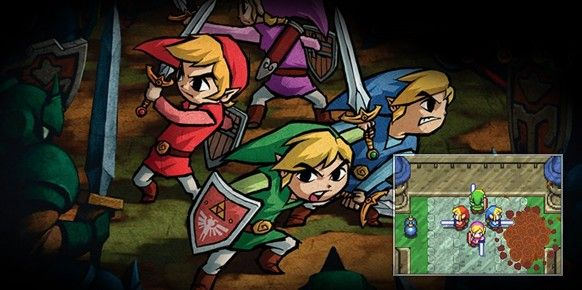 the legend of zelda four swords edicion aniversario nintendo ha