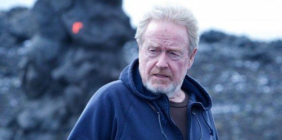 Ridley Scott durante el rodaje de Prometheus