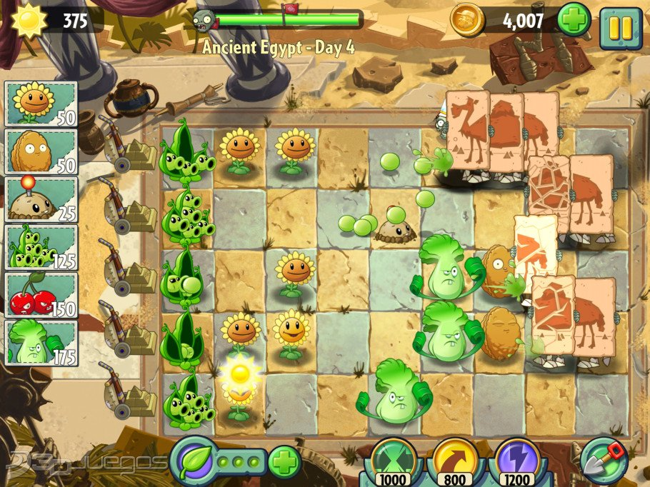 Plants vs zombies 2 info