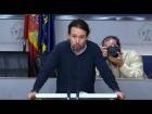 V�deo: Rueda de prensa de Pablo Iglesias tras su encuentro con el Jefe de Estado