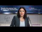 Video: Rueda de prensa de Irene Montero tras la junta de portavoces. 14 de Marzo