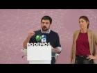 Video: Declaraciones de Lorena Ruíz-Huerta y Ramón Espinar tras la dimisión de Esperanza Aguirre