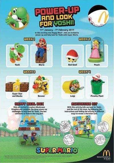 Super Mario ya está en los McDonald's de Reino Unido, Hong Kong y Japón