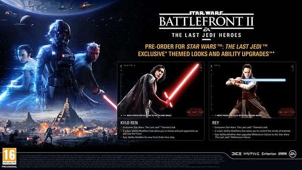Primer vistazo a los nuevos trajes de Kylo Ren y Rey en Star Wars: Battlefront 2