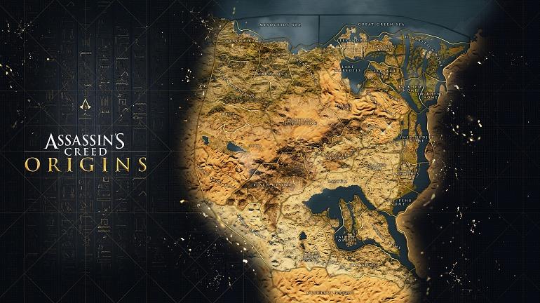 Assassin's Creed: Origins muestra el mapa de su Antiguo Egipto
