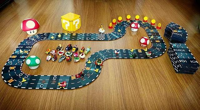 Crean un espectacular juego de mesa de Mario Kart